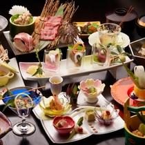 【料理】料理長自慢!旬の食材にこだわった和会席。贅を尽くした献立に舌つづみ♪(イメージ)
