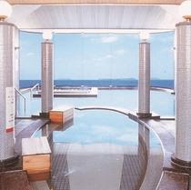 【萩指月温泉】パノラマ展望大浴場/ジェットバス・打たせ湯・サウナなど楽しめ日本海の絶景風呂にうっとり