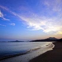 北長門国定公園内に位置している「菊ヶ浜」/今日はどんな景色で迎えてくれるのだろうか・・・。