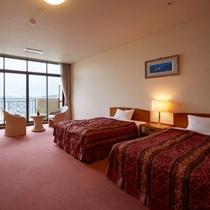 【部屋】オーシャンビュー洋室(45平米/ベッド幅125cm)