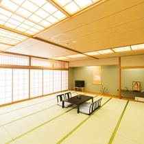 【部屋】城下町側の大部屋和室(30帖)です!3世代・グループでのご宿泊に最適♪(一例)