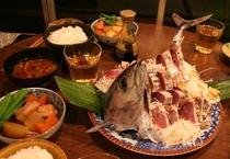 1000円の地魚ご夕食例