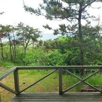*コテージ6人棟一例/宮沢海岸を見下ろす丘にあるので解放感があります!