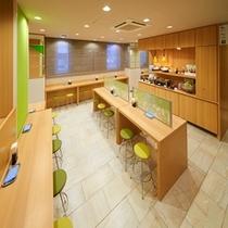 朝食コーナー【スーパーホテル新宿歌舞伎町