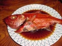 稲取で水揚げされたブランド金目鯛の姿煮