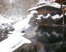 冬の大露天風呂