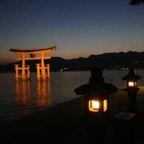 厳島神社鳥居(夜)2