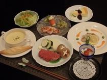 和洋折衷コース料理(一例)