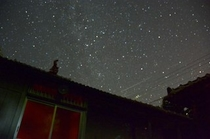 夜空を見上げると満天の星空!!!