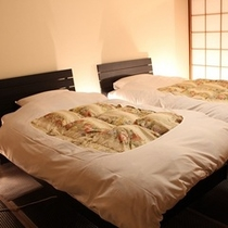 お部屋和室タイプ、ツインベッドの一例