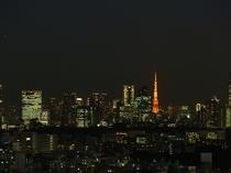 【高層階東側の夜景】東京スカイツリーと東京タワーが同時に見えるお部屋も・・・!?(一例)