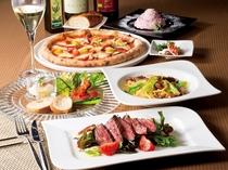 【1階ボンサルーテKABUKI】コース料理一例。本格イタリアンをお気軽に♪