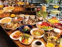 【朝食☆1階ボンサルーテKABUKI】種類豊富な和洋ブッフェスタイル