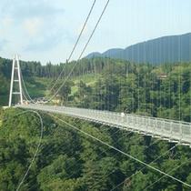"""*「九重""""夢""""大吊橋」は日本一の人道専用の大吊橋です(当館より車で約20分)"""