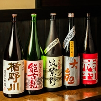 *九州各地はもとより、全国から厳選した館主お薦めのお酒を多数ご用意しております。