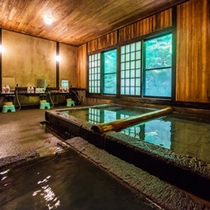 *大浴場(切石湯)/檜湯と日替わりで男女入れ替え制でご入浴していただけます