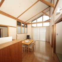 客室(コテージ)/キッチン用具も完備。長期滞在にオススメです。
