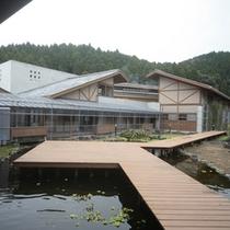 外観/入口の付近に池があり、お子様に人気のスポットです。