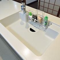 *キッチン/使い易さを重視した大きな流し台で後片付けも楽々。