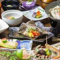 【会席料理 梅】全10品のリーズナブルな料理長自慢の季節の会席料理。
