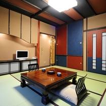 *明るく清潔感漂う和室でお寛ぎください。(一例)