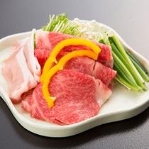 *【夕食一例/台物】しゃぶしゃぶは、胡麻だれでお召し上がりください。