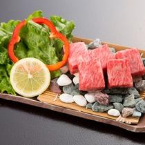 *【夕食一例/台物】山形牛サイコロステーキ。