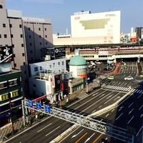 客室からの風景 近鉄四日市駅方向