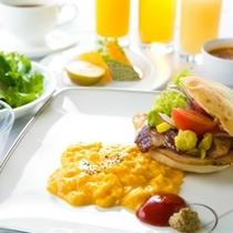 【朝食】澄んだ空気と緑の景色で気軽に楽しむフォカッチャサンド