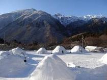 毎年2月1日から14日までここ中尾地区で開催される「かまくらまつり」