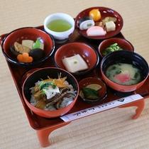 *1/1~3/15期間中は、精進料理:特別ひなご膳3000円(限定30食)をご提供します。※要予約