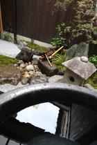 露天風呂  水琴窟の音が響く坪庭を眺めながら Bath with Suikinkutsu