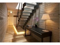 2階のベッドルームへつながる階段
