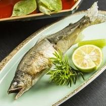 【和食膳・焼き物一例】鮎の塩焼き。最上の味覚を感じて下さい