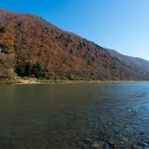 紅葉の最上川