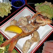 *さしば定食/レストランメニューにはない限定定食!島の食材をふんだんに使った郷土色満載の料理内容です