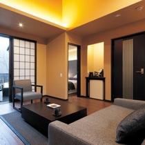 広々とした洋室のお部屋はまさに別邸。