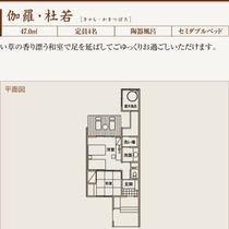 左記部屋の間取り図