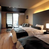 広々とした寝室でダブルベッドでお休みください。