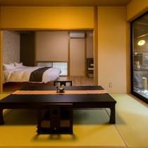 客室は10室のみ、お部屋によって趣が異なります。写真は「くろもじ」