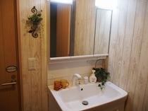 ログコテージ 洗面台