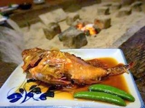 地魚ならではプリプリ煮魚です。