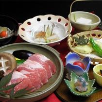 *スタンダード.若松ポーク肉陶板コース一例/メイン料理をお好みでセレクトできます。