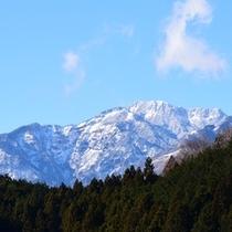 麓から日光連山を望む