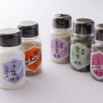 赤穂の焼き塩(のり味・しそ味・こんぶ味・塩こしょう)