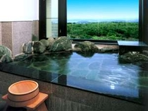 和室の客室風呂(展望温泉岩風呂)