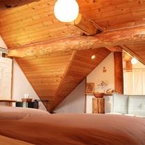 *ログハウスタイプ一例/遊び心の散りばめられた人気の客室。お部屋ごとに異なる造りをお楽しみに!