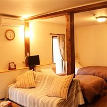 *コンフォートルーム一例/二間続きのお部屋はカップルはもちろん、ファミリー・グループにもお勧め。