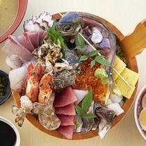 よくばり丼(蒸し釜体験夕食)