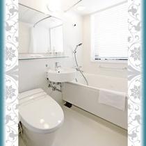 【バスルーム】 コーナーダブル、エグゼクティブツインのバスルーム